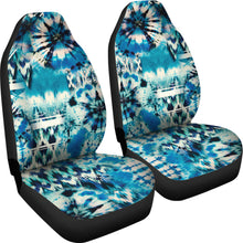 Load image into Gallery viewer, Blue Green Tie Dye Pattern Car Seat Covers