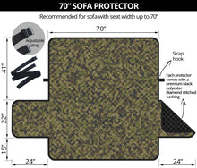 "Load image into Gallery viewer, Camo Couch Protector green, Brown and Gray Camouflage Slip Cover 70"" Seat Width"