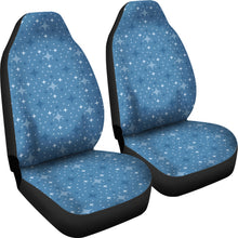 Load image into Gallery viewer, Blue With Retro Stars Pattern Car Seat Covers