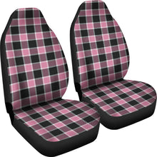 Load image into Gallery viewer, Blush Rose Pink Plaid Check Car Seat Covers