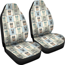 Load image into Gallery viewer, Patchwork Style Owl Pattern Car Seat Covers