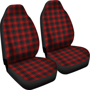 Red and Black Plaid Tartan Car Seat Covers