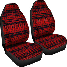 Load image into Gallery viewer, Red and Black Thunderbird Pattern Car Seat Covers Native American Ethnic Mexican Inspired