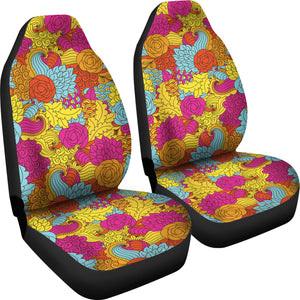 Colorful Abstract Pattern Car Seat Covers