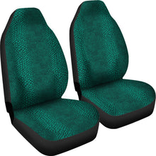 Load image into Gallery viewer, Teal Lizard Reptile Snake Skin Scales Car Seat Covers