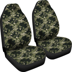 Skull Camouflage camo design car seat covers universal fit