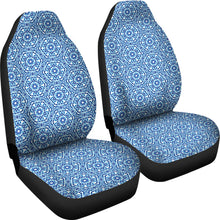 Load image into Gallery viewer, Shibori Blue and White Car Seat Covers Ethnic