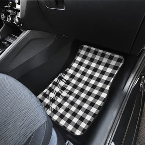 Black and White Buffalo Plaid Front Car Floor Mats