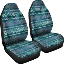 Boho Watercolor Iridescent Ethnic Pattern Car Seat Colors