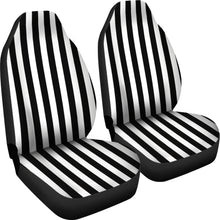 Load image into Gallery viewer, Black and White Striped Car Seat Covers