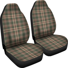 Load image into Gallery viewer, Woodland Plaid Green, Brown Car Seat Covers Set