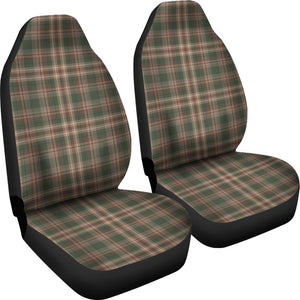 Woodland Plaid Green, Brown Car Seat Covers Set