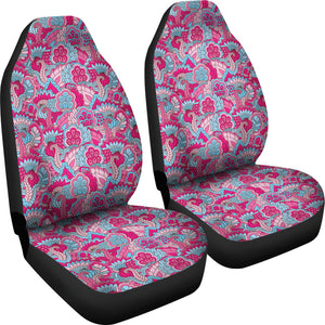 Pink and Blue Floral Car Seat Covers