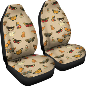 Vintage Moths and Butterflies Car Seat Covers