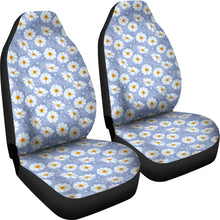 Load image into Gallery viewer, Light Blue With White Daisy Pattern Car Seat Covers