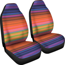 Load image into Gallery viewer, Colorful Serape Style Car Seat Covers Purple, Pink, Orange, Green and Yellow