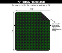 "Load image into Gallery viewer, Green Buffalo Plaid 70"" Futon Couch Cover Sofa Protector Farmhouse Decor"
