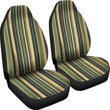 Load image into Gallery viewer, Tuscan Stripes Car Seat Covers Green and Black and Stone Earth Tones