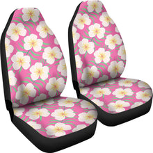 Load image into Gallery viewer, Pink With Frangipani Plumeria Hawaiian Island Flower Pattern Car Seat Covers