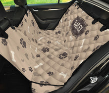 Load image into Gallery viewer, Custom Dog Love Name Back Seat Cover For Pets
