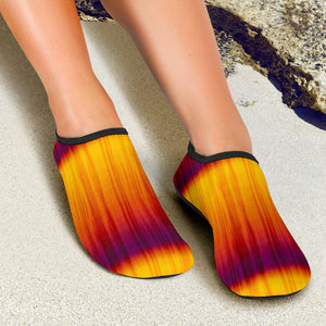 Orange and Yellow Tie Dye Water Shoes