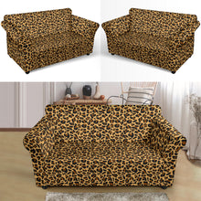 Load image into Gallery viewer, Loveseat Leopard Print Stretch Slip Cover Fits Up To 68""