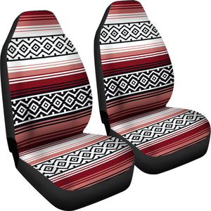 Dusty Rose, White and Black Serape Inspired Car Seat Covers Seat Protectors