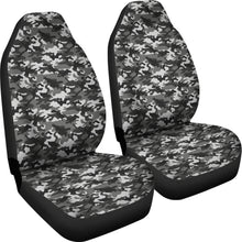 Load image into Gallery viewer, Black Gray Camouflage Car Seat Covers