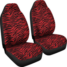 Load image into Gallery viewer, Red and Black Tiger Striped Car Seat Covers