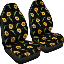Load image into Gallery viewer, Black With Rustic Sunflower Pattern Car Seat Covers Seat Protectors