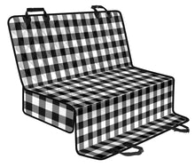 Load image into Gallery viewer, Black and White Buffalo Plaid Back Bench Seat Cover For Pets Dogs