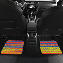 Load image into Gallery viewer, Set of 4 Floor Mats Colorful Ethnic Tribal Pattern Boho Mexican Inspired