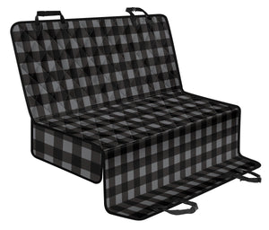 Gray and Black Buffalo Plaid Back Bench Seat Cover For Pets