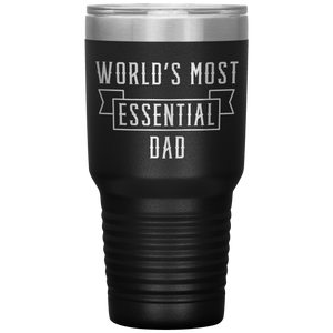 World's Most Essential Dad Insulated Stainless Steel Powder Coated Tumbler Mug