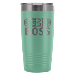 CBD Boss 20 Ounce Tumbler Coffee Mug Hot Or Cold With Lid