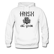 Load image into Gallery viewer, Irish All Year Unisex Hoodie - white