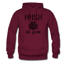 Load image into Gallery viewer, Irish All Year Unisex Hoodie - burgundy