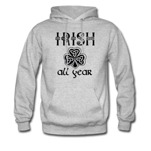 Load image into Gallery viewer, Irish All Year Unisex Hoodie - heather gray