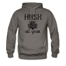 Load image into Gallery viewer, Irish All Year Unisex Hoodie - asphalt gray