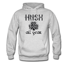 Load image into Gallery viewer, Irish All Year Unisex Hoodie - ash