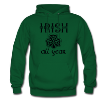 Load image into Gallery viewer, Irish All Year Unisex Hoodie - forest green