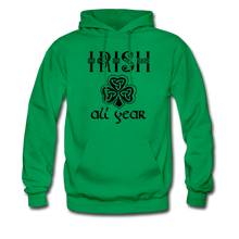 Load image into Gallery viewer, Irish All Year Unisex Hoodie - kelly green
