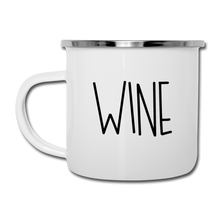 Load image into Gallery viewer, Coffee / Wine Enamel Camper Mug - white