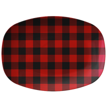 Load image into Gallery viewer, Red Buffalo Plaid Serving Platter ThermoSāf® Polymer BPA FREE