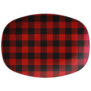 Red Buffalo Plaid Serving Platter ThermoSāf® Polymer BPA FREE