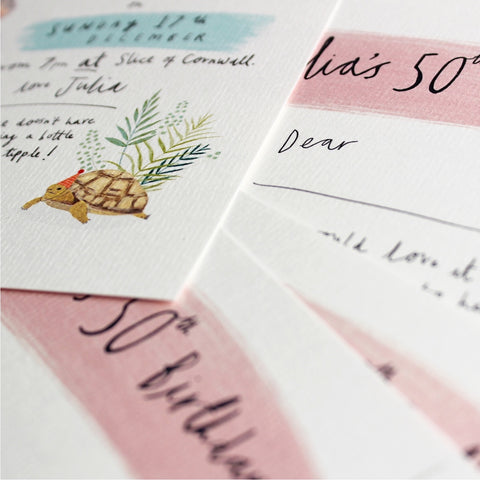 Custom Stationery Invitations by Katy Pillinger Designs