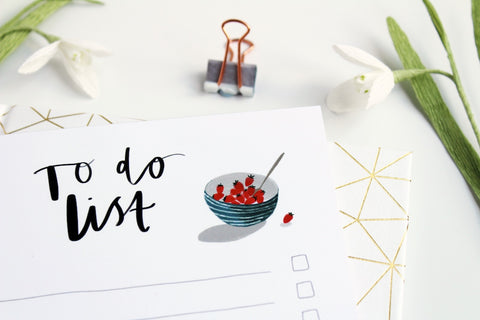 To Do List - Blog 5 Tips for surviving the quiet months | Katy Pillinger Designs