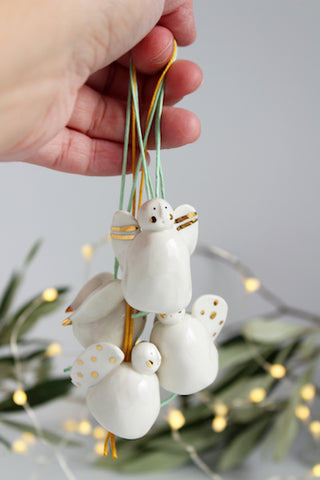 New Ceramic Christmas Tree decorations by Katy Pillinger Designs