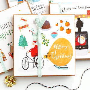 Pack of 6 All things Christmassy Christmas Cards