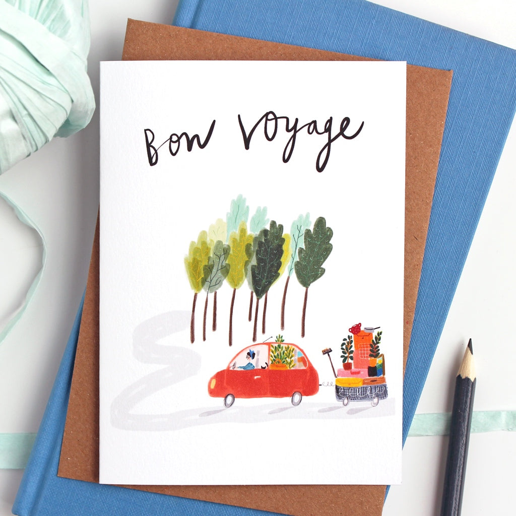 Farewell card bon voyage quirky gifts katy pillinger designs farewell card kristyandbryce Image collections